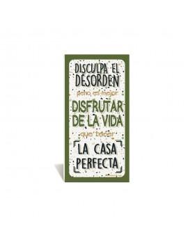 CARTEL PVC ADHESIVO DISCULPA EL DESORDEN product_id