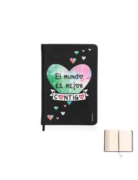 LIBRETA A5 - EL MUNDO ES MEJOR CONTIGO product_id